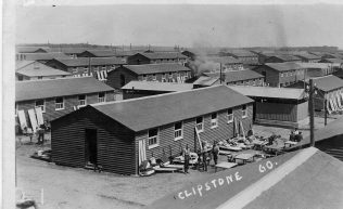 Old photo of Clipstone Camp showing huts | Private Collection
