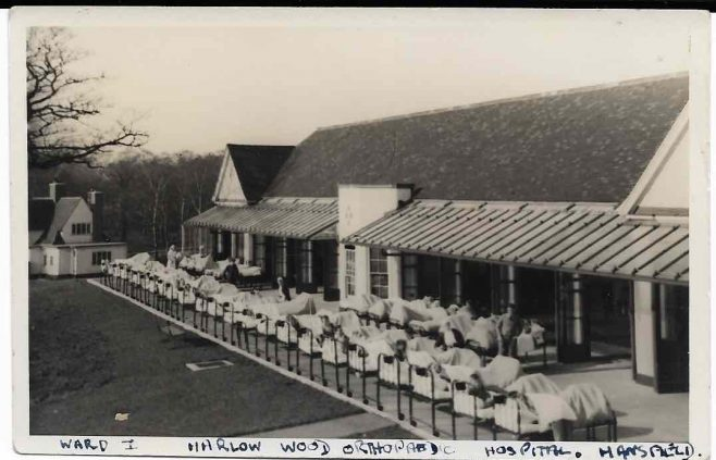 Early 1940s, Ward 1, Harlow Wood Orthopaedic Hospital, where my mother worked as a nurse