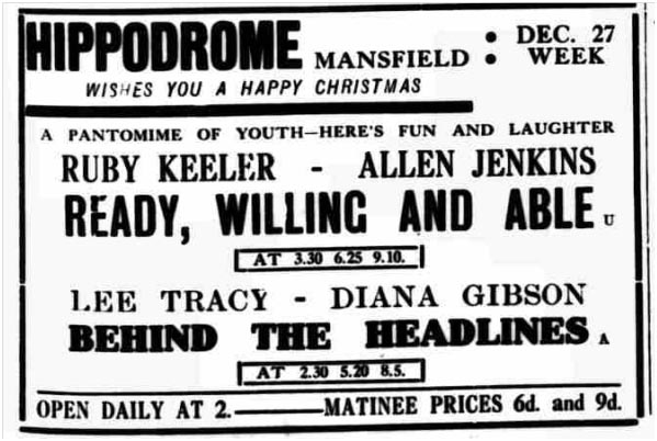Christmas 1937 - - Going to the Cinema
