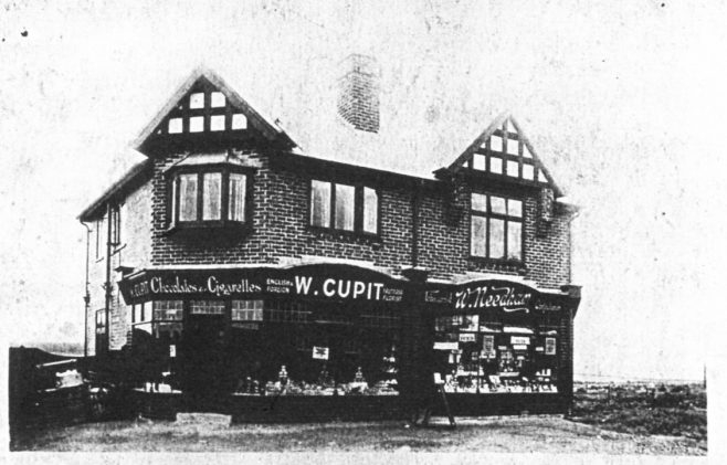 Cupits Shop Clipstone - Then & Now