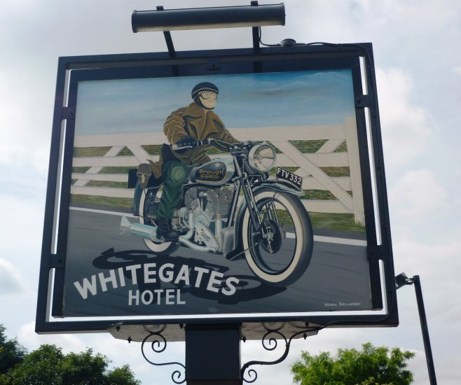 Whitegates pub sign
