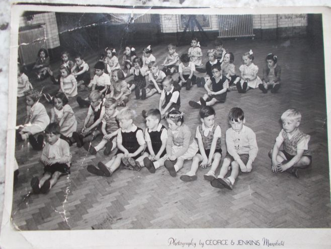 Children at rosemary infants school in the early fifties.