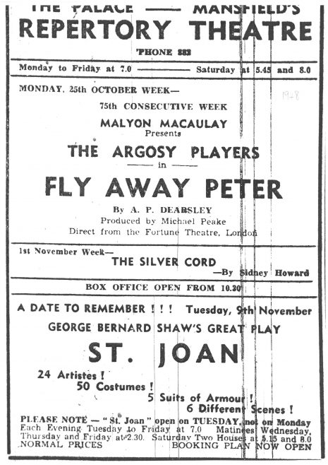 Argosy Players Advert 1948