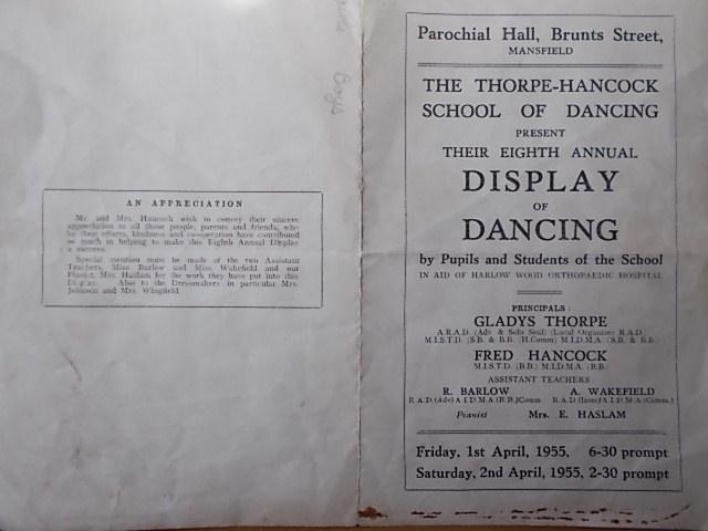 The Thorpe and Hancock School of Dancing