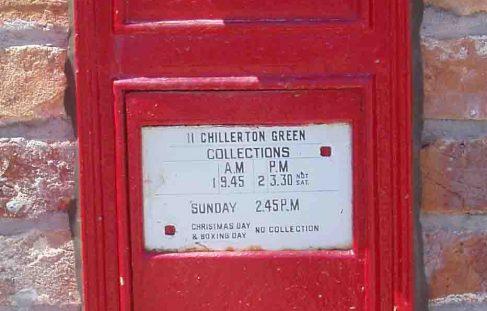 Newfoundland, Canada, Victorian wall letter box.