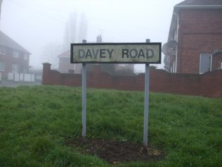 Davey road sign