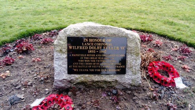 Memorial to William Dolby Fuller, V.C.  in Car Bank Park
