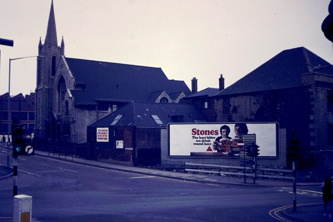 Old Church and buildings on Rosemary Street junction /and Old buildings late 60's/70s