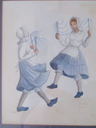 Penford's Mill painting of dancers in kit