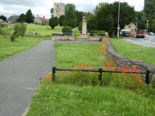 Warsop Church and Cenotaph