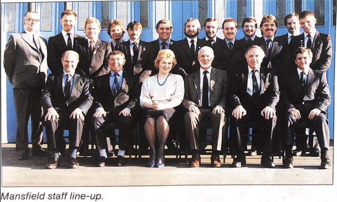 Mansfield Staff line-up in 1989