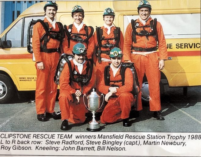 Clipstone Rescue Team, winners Mansfield Rescue Station Trophy in 1988