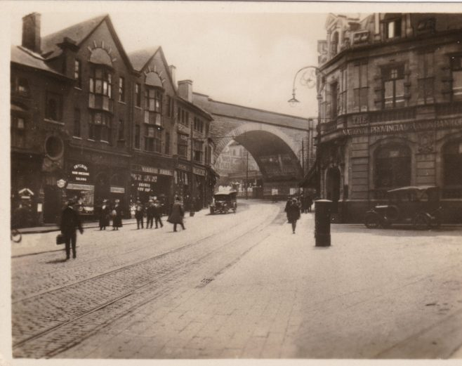 Market Street in Mansfield, possibly 1920s