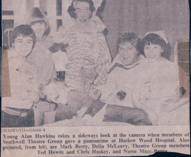 Harlow Wood Pantomime  1977 - Newspaper cutting