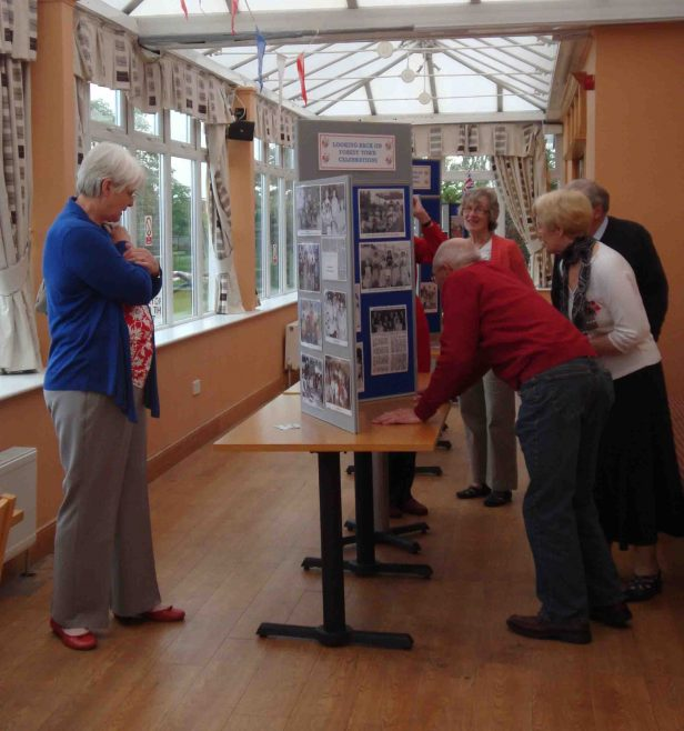 Looking at the 'Past Celebration's in Forest Town' display
