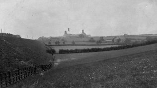 This photo shows Mansfield Colliery in the back ground and Crown Farm on the right