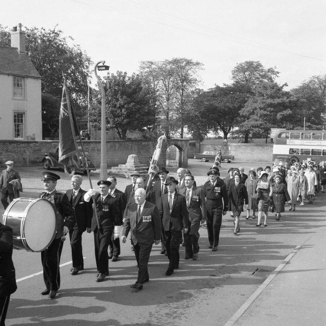 Mansfield Woodhouse - British Legion Parade 1965   CHAD 13138