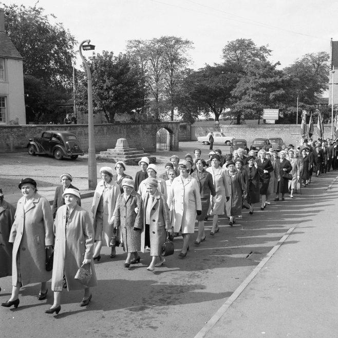 Mansfield Woodhouse - British Legion Parade 1965   CHAD 13139