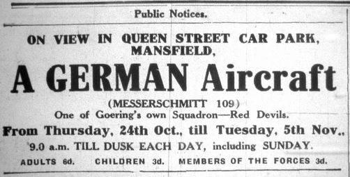 German Plane Visits Mansfield