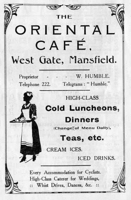 Oriental Cafe, Mansfield