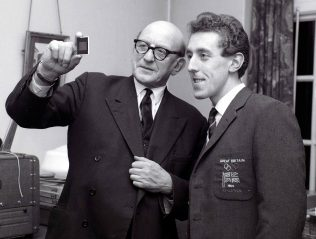 John Whetton with Harold Abrahams 1965