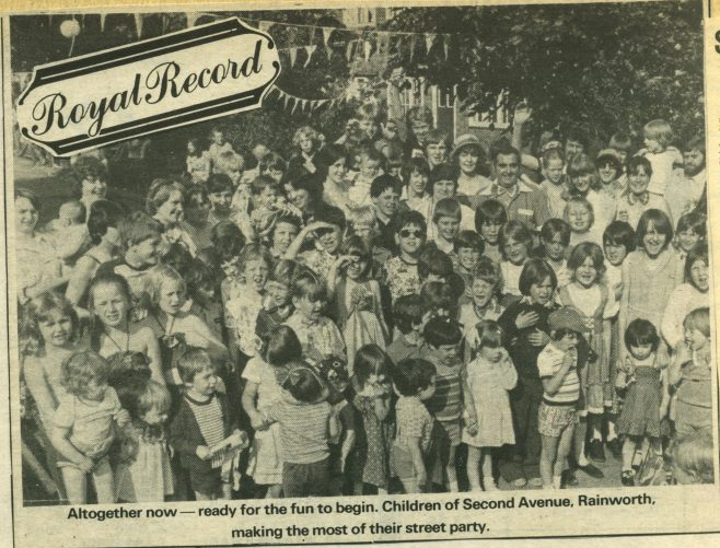 1981 Royal Wedding street party, 2nd ave, Rainworth. | Chad clipping