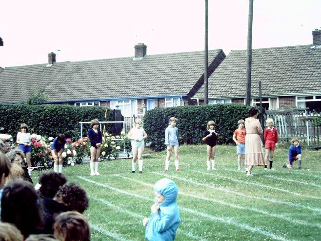 Heathlands First School, sports day c1981 | Carolyn Harris - Copyright