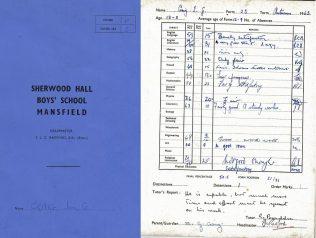 school report 1960s | ian craig