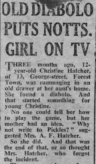 Christine's Television Appearance