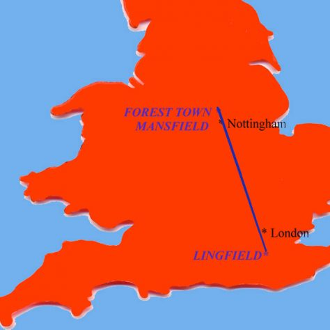 Lingfield, Surrey to Forest Town