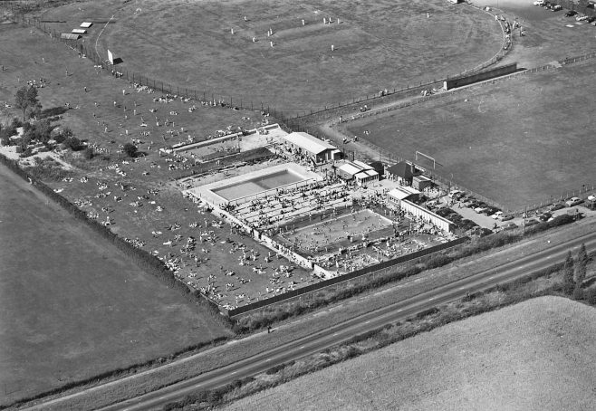 Clipstone Lido Aerial View | CHAD 7800