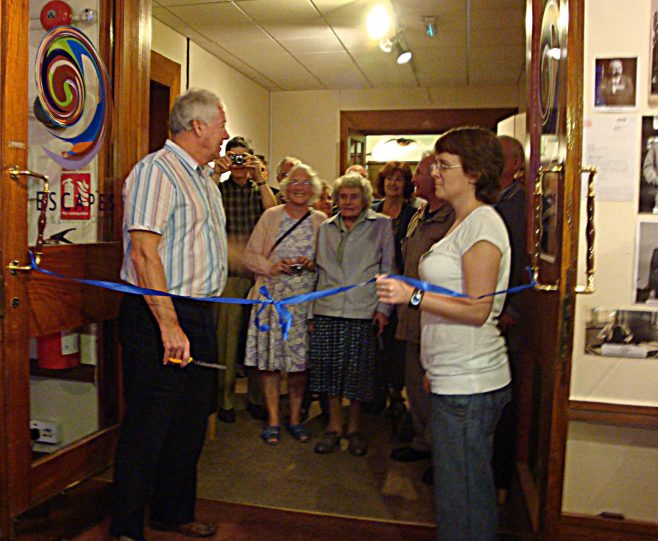Saturday October 1st 11am - Preparing to cut the ribbon