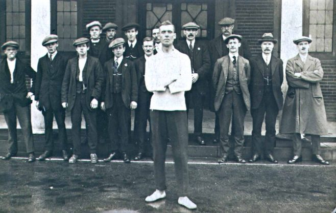 Standing on guard at Forest Town Miners Welfare | Private collection