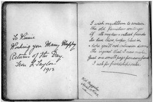 Winifreds Autograph Book