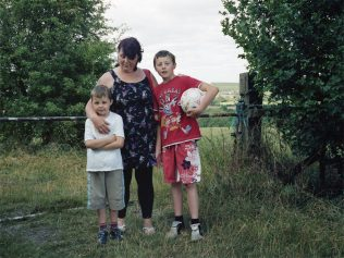 A mother out on a walk with her two sons - Brierley Forest Park, former Sutton-in-Ashfield Colliery | David Severn