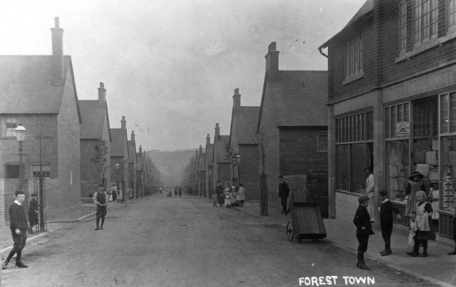 Looking down Main Avenue with the Co-op window on the right | P Marples Collection