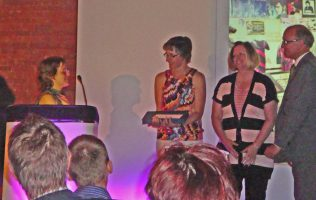 Jodie Henshaw making a speech after the award was presented | P Marples