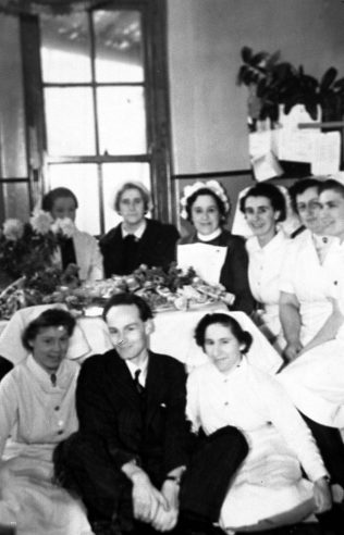 Staff and patients believed to be Christmas 1942 | Private Collection