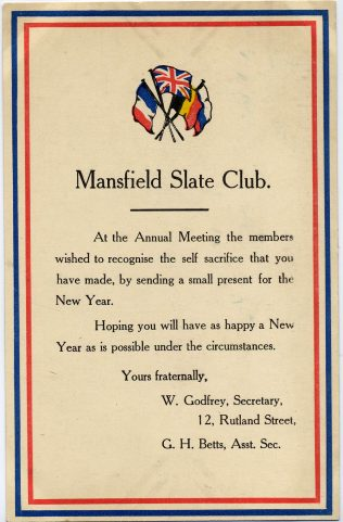Mansfield Slate Club | Private Collection