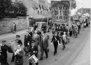 Mansfield Colliery Banner in the parade | Private Collection