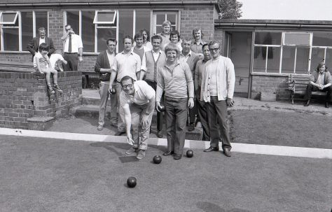 Bowling at Langwith Miners Welfare 1973