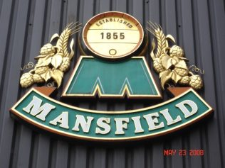 The sign was formerly situated above the entrance to the main Brewhouse