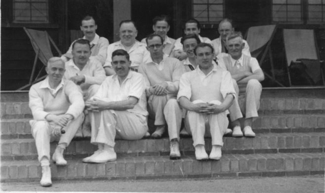 The Staff cricket team 1948(ish)!  Dad has hair!