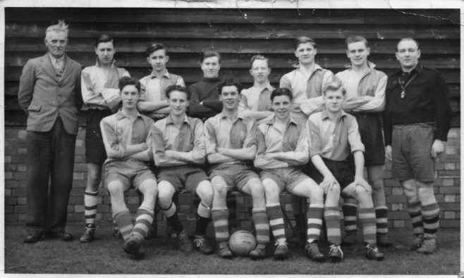 On the far left is Mr. Fox, the groundsman.   He was always known as just