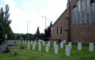 The War Graves of Soldiers from Clipstone Camp in St Alban's Churchyard Forest Town | P Marples
