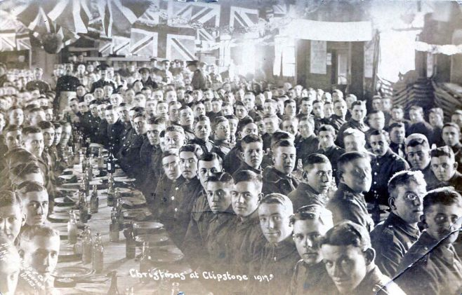 Christmas at Clipstone 1917 | PC by Worsnop & Co Shipley Yorkshire