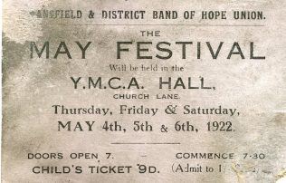 Ticket 'May Festival' 1922 | M Marples