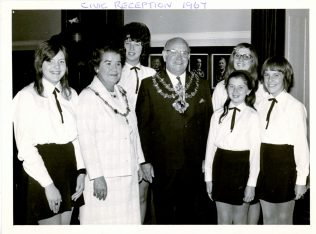 This was from the Civic Reception when the Girls' Choir won the 1967 International Llangollen Festival.