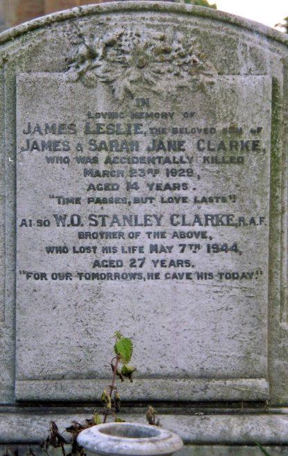 W.O. Stanley Clarke. RAF - original Churchyard | P Marples