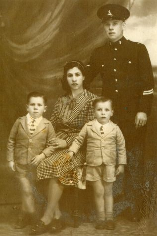 Mary & Alfred Cark with sons Alfred (Left)age4 or 5 & Bill (right) aged 3 in Valletta, Malta circa 1939